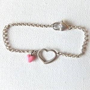 B001 - Much Love Pink Heart Bracelet
