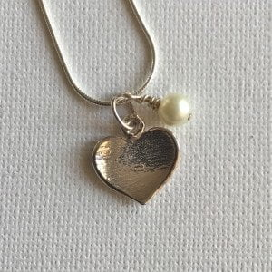 Heart with Pearl Necklace