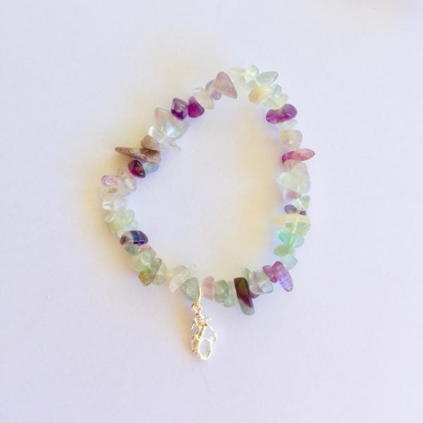 Rainbow Fluorite Mermaid Bracelet