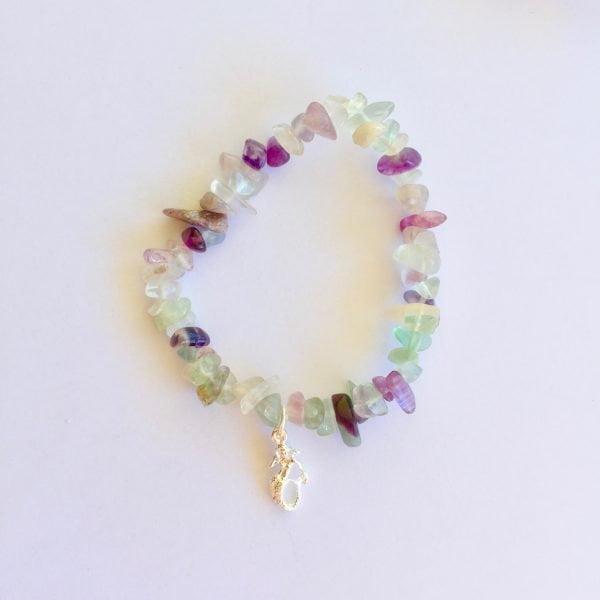 Rainbow Fluorite Mermaid Bracelet