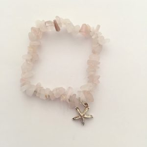 Rose Quartz Starfish Bracelet