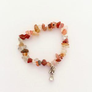 B Carnelian Angel Bracelet