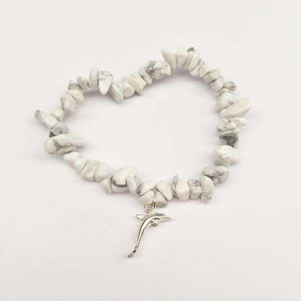 White Howlite Dolphin Bracelet